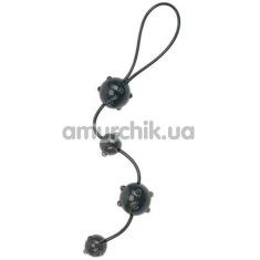 Анальные бусы Jack Up Anal Beads чёрные - Фото №1