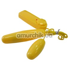 Комплект виброяиц Vibro Stim Dual жёлтый - Фото №1