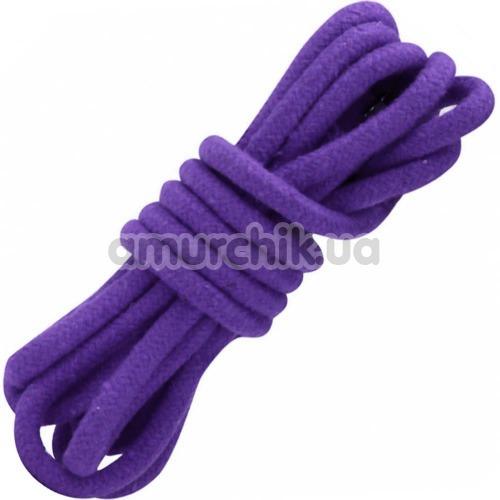 Веревка sLash Bondage Rope Purple 3м, фиолетовая