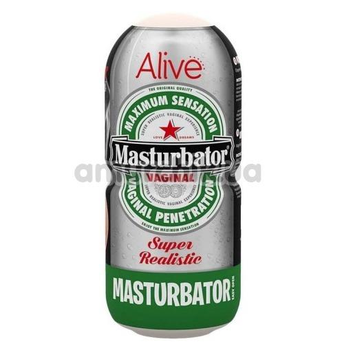 Мастурбатор Alive Masturbator Super Realistic Heineken, телесный