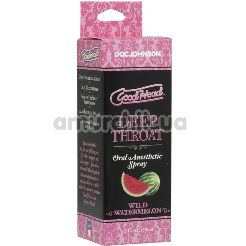 Расслабляющий спрей для минета GoodHead Deep Throat Spray Wild Watermelon - арбуз, 59 мл