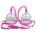 Вакуумная помпа для увеличения груди Breast Pump 014091-5, розовая - Фото №1
