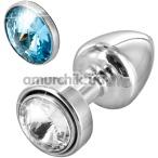 Анальная пробка с кристаллом SWAROVSKI Anni Magnet T1, серебряная - Фото №1