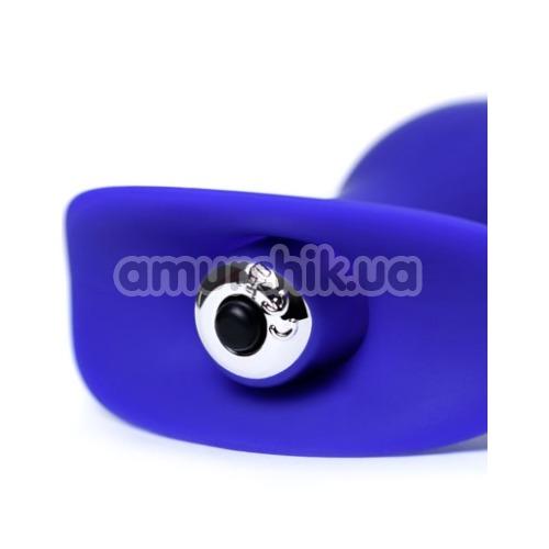 Анальная пробка с вибрацией ToDo Anal Vibro Plug Fancy, синяя
