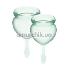Набор из 2 менструальных чаш Satisfyer Feel Good, светло-зеленый - Фото №1