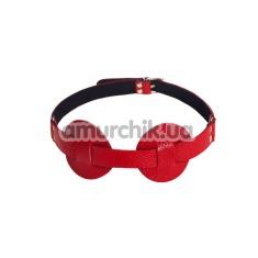 Маска на глаза sLash SUB Leather Mask, красная - Фото №1