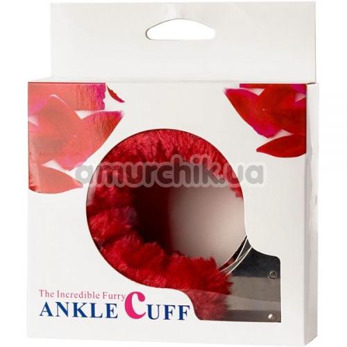 Поножи Loveshop Metal Ankle Cuffs, красные