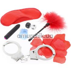 Бондажный набор The Kinky Fantasy Kit, красный - Фото №1