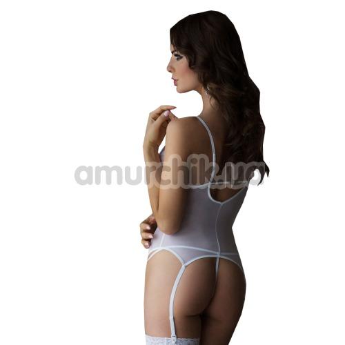 Комплект Valeria белый: комбинация + трусики-стринги