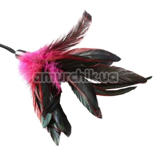 Пёрышко для ласк Sportsheets Pleasure Feather Body Tickler, розовое