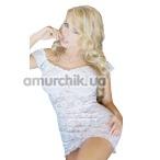 Комплект Veronica белый: комбинация + трусики-стринги - Фото №1