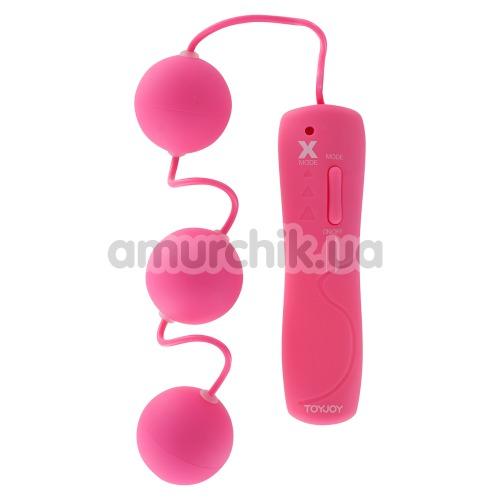 Вагинальные шарики с вибрацией Funky Triple Power Balls, розовые - Фото №1