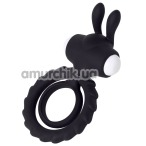 Виброкольцо JOS Good Bunny, чёрное - Фото №1