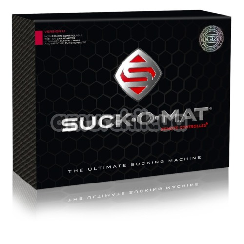 Секс-машина для мужчин Suck-O-Mat Remote Controlled, прозрачная