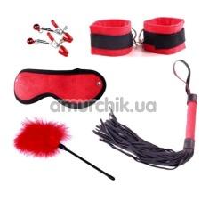 Бондажный набор Loveshop Delight Mini Set, красный - Фото №1