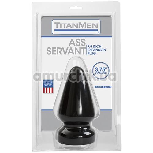 Анальная пробка Titanmen Tools Ass Servant, 9.4 см черная