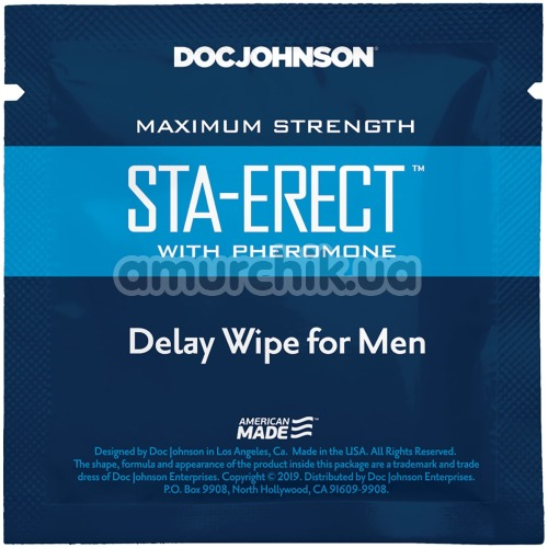 Салфетка-пролонгатор Doc Johnson Sta-Erect Delay Wipe