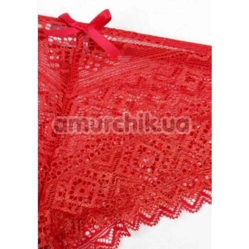Комплект Admas The Sexy Stories красный: трусики-стринги + наручники