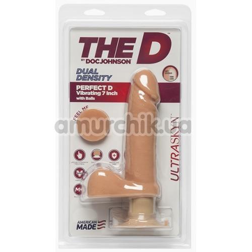 Вибратор The D Dual Density Perfect D Vibrating 7 Inch With Balls, телесный