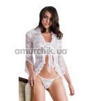 Комплект Emilie белый: пеньюар + трусики-стринги - Фото №1