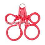 Фиксаторы для рук и ног Japanese Silk Rope Hogtie, красные - Фото №1