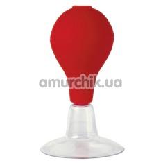 Вакуумный стимулятор для сосков Brustnippel Sauger, красный