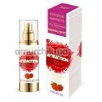 Массажное масло с феромонами Aphrodisiac Warming Massage Oil Attraction Strawberry с согревающим эффектом - клубника, 30 мл - Фото №1
