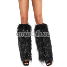 Гетры Furry Lurex Leg Warmers, черные - Фото №1