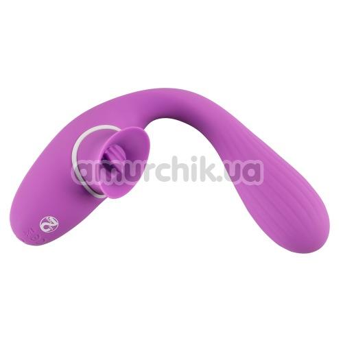 Вибратор клиторальный и точки G 2 Function Bendable Vibe, фиолетовый
