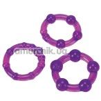 Набор эрекционных колец Ultra Soft & Stretchy Pro Rings Purple, 3 шт - Фото №1