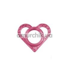 Эрекционное кольцо в блистере Grass&Co Love Ring, розовое - Фото №1