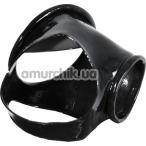 Эрекционное кольцо Latex Penis Cuff, черное - Фото №1