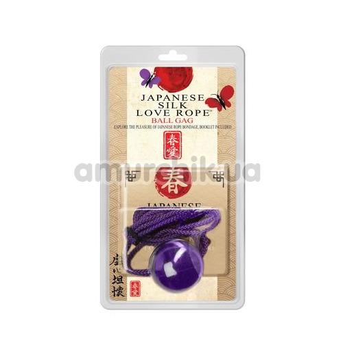 Кляп Japanese Silk Love Rope Ball Gag, фиолетовый