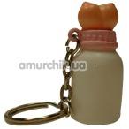 Брелок - сувенир бутылочка с грудью - Фото №1