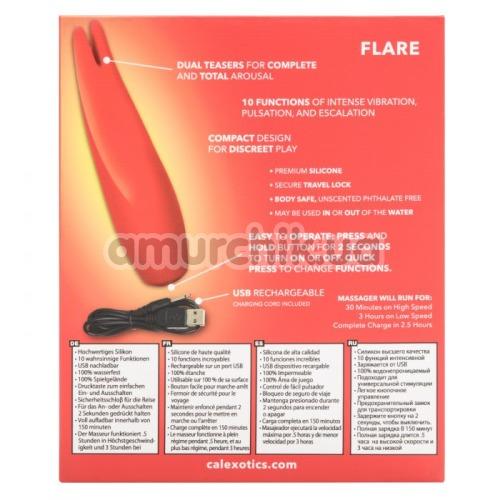 Клиторальный вибратор Red Hot Flare, красный