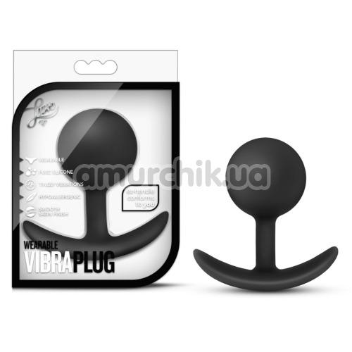 Анальная пробка Luxe Wearable Vibra Plug, черная