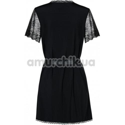 Комплект Obsessive Miamor черный: халат + трусики-стринги