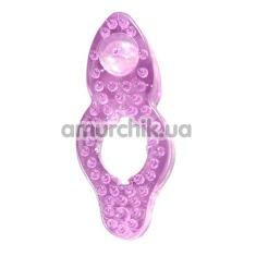 Эрекционное кольцо Silicone Love Rings, фиолетовое - Фото №1