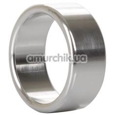 Эрекционное кольцо Alloy Metallic Ring Medium, серебряное - Фото №1