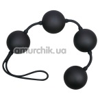 Вагинальные шарики Velvet Black Balls черные - Фото №1