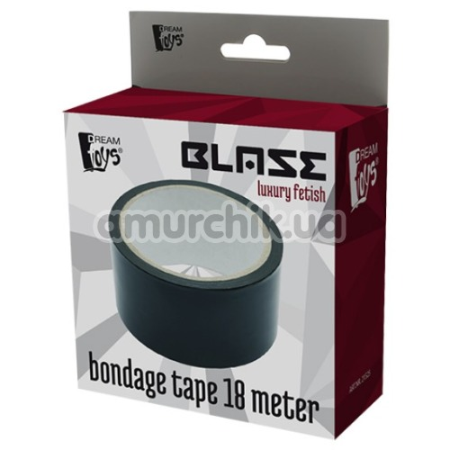 Бондажная лента Blaze Luxury Fetish Bondage Tape 18 Meter, черная