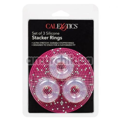 Набор эрекционных колец Silicone Set Of 3 Stacker Rings, прозрачный