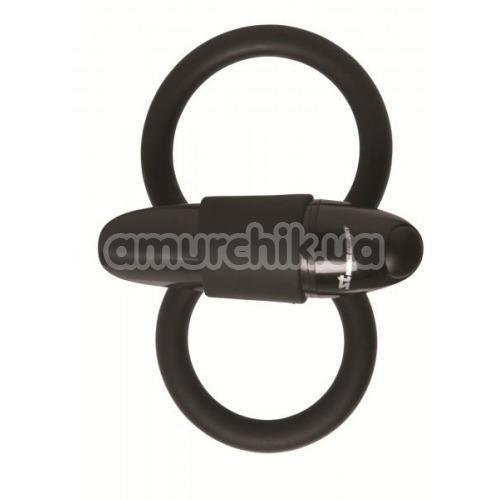 Виброкольцо Malesation Squeeze Cock & Ball Ring, черное
