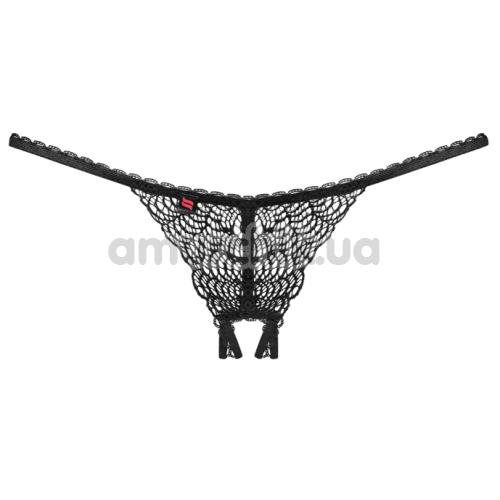 Трусики-стринги Obsessive Chiccanta Crothless Panties черные