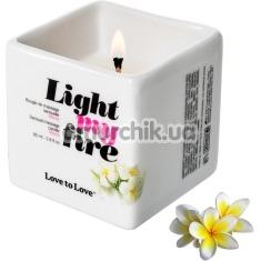Массажная свеча Love To Love Light My Fire Monoi - моной, 80 мл - Фото №1