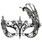 Маска Accessoires Cottelli Collection Glitter, черная - Фото №1