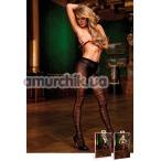 Колготки Black Jacquard Pantyhose (модель B428) - Фото №1