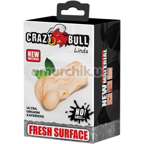 Искусственная вагина Crazy Bull Linda, телесная