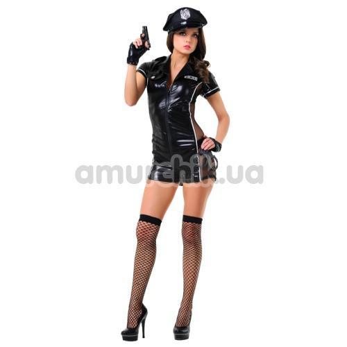Костюм полицейской LeFrivole Police Woman Costume (02546), чёрный - Фото №1