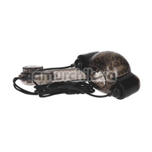 Мастурбатор для головки с вибрацией Stimulation Glans Sleeve with Vibration, черный